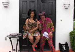 Nardwuar vs. Cardi B. Backstage at Coachella