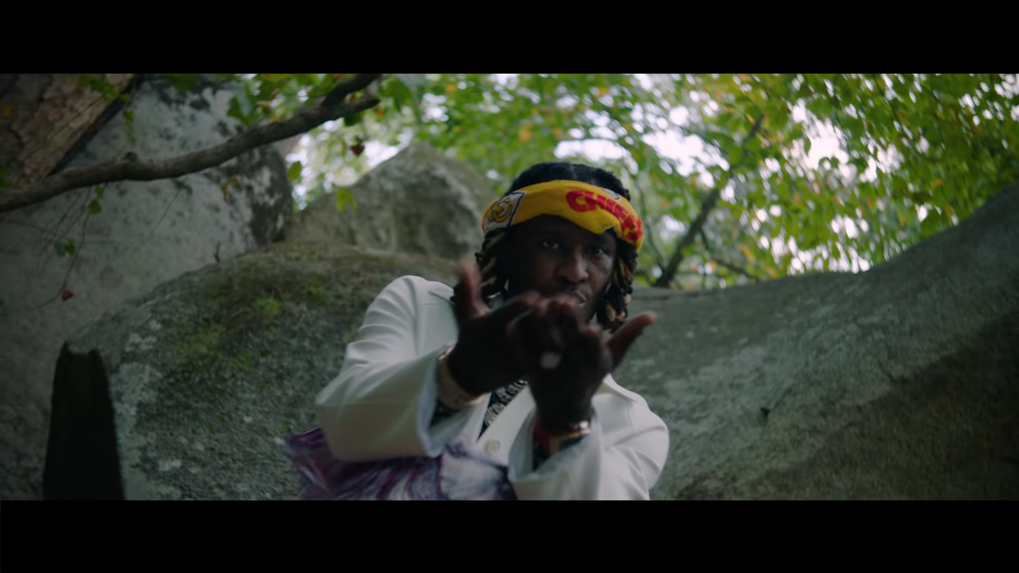 Young Thug, Take a Surreal Stroll Through The Wood in Chanel video